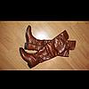 Красивые ботфорты, высокие сапоги (евро-утепление), светло-коричневого цвета