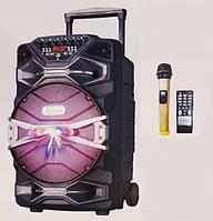 Портативная колонка AIl-1618 с радиомикрофоном 300W (FM/USB/Bluetooth)/видео обзор, фото 1