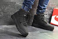 Зимние мужские ботинки на меху в стиле Nike, черные . Код товара: Д - 6885
