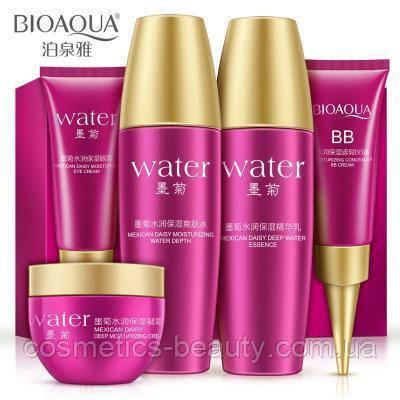 Міні-набір BIOAQUA Water Special Set з гіалуронової кислотою і екстрактом хризантеми.