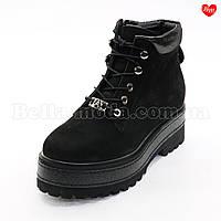 Женские нубуковые ботинки на платформе, фото 1