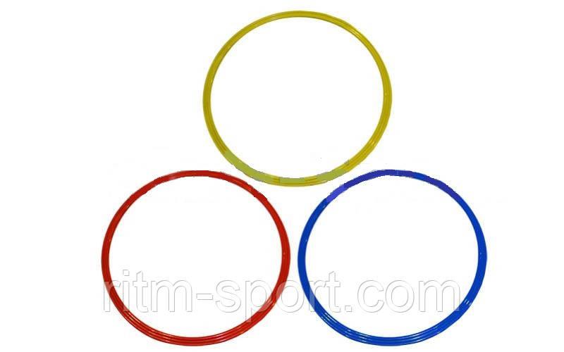 Кольца тренировочные  (пластик, d-60см, в комплекте 12шт.)