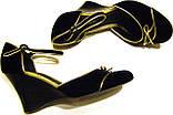 Туфельки женские бархатные с бантиком, фото 2