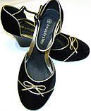 Туфельки женские бархатные с бантиком, фото 3
