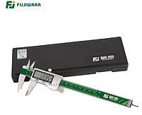 Штангенциркуль электронный FUJIWARA FUJ-KC-003 металлический D - 150 мм, точность 0,01 мм, с бегунком. Япония, фото 1