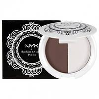 Хайлайтер и пудра для контуринга - NYX Highlight and Contour