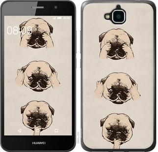 "Чехол на Huawei Y6 Pro Мопсики ""2884c-355-328"""