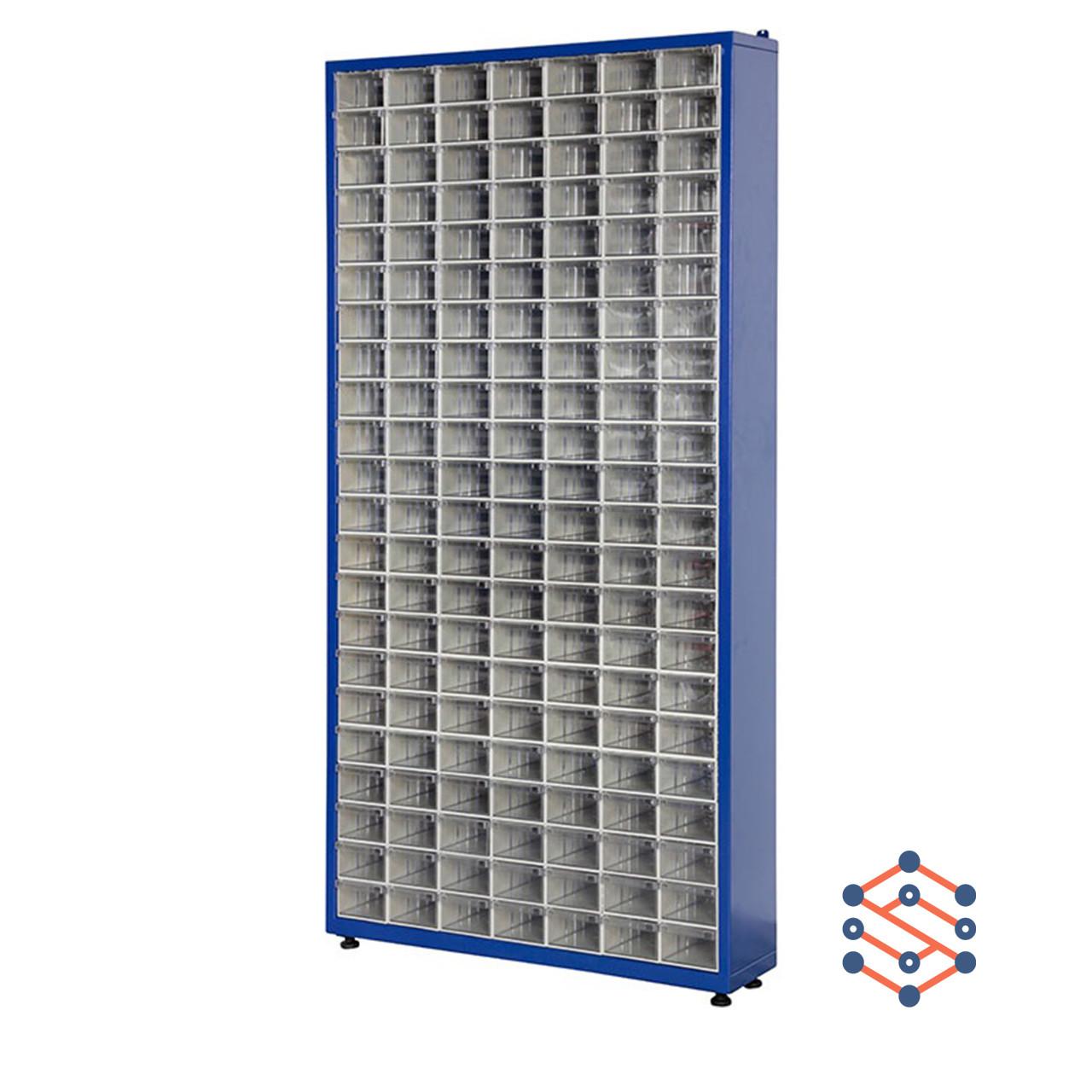 Односторонний металлический шкаф с пластиковыми лотками 915x205x1860 мм