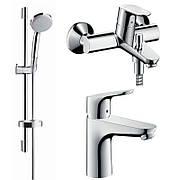 Focus Набор смесителей для ванны (31607000+31940000+27772000)