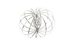 Кинетическая игрушка Magic Ring Toroflux Серебристый (QT-MR-1sl)