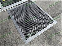 Грязезащитный резиновый ковер Волна 15 мм 90х160 см серый с кантом
