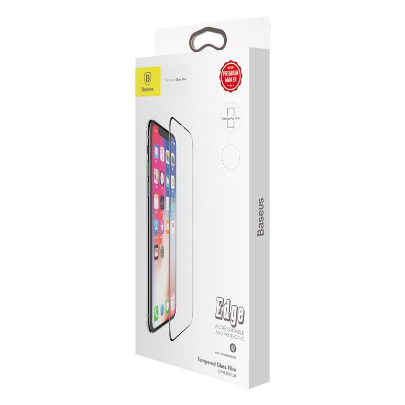 Защитное стекло Baseus для iPhone X 0.2mm All-screen Arc-surface  Anti-bluelight Film, Black