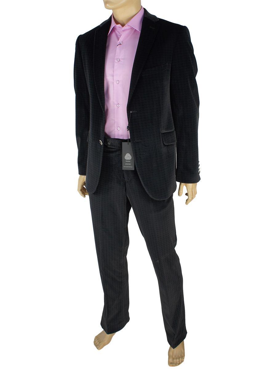Мужской классический костюм Black Lion 6362 в черном цвете