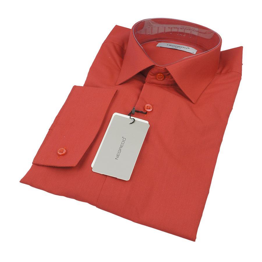 Вишневая мужская рубашка Negredo 26051 Slim