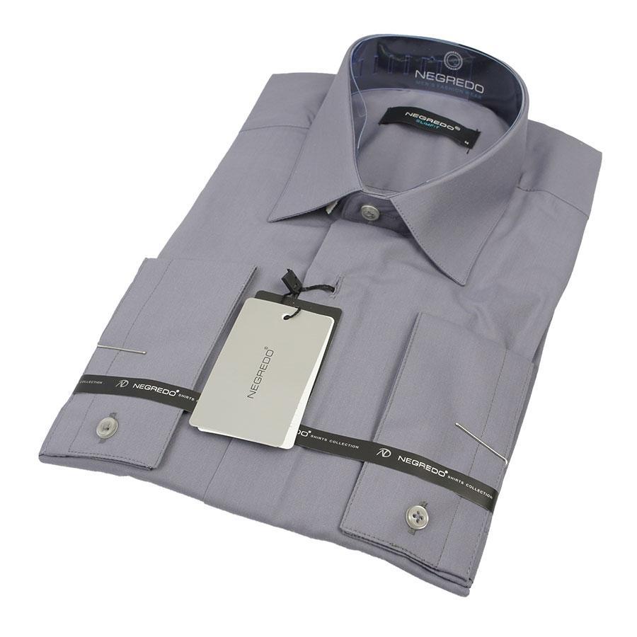 Серая мужская рубашка Negredo 29260 Slim