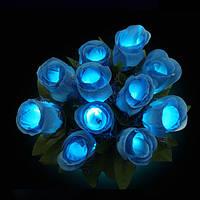 5шт красочный LED роза цветок мигающий светящийся украшение букета венчания vanlentine партии 1TopShop