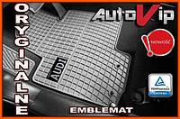 Резиновые коврики AUDI A4 S4 2000- серые с лого, фото 1