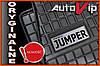 Резиновые коврики CITROEN JUMPER 06-  с логотипом