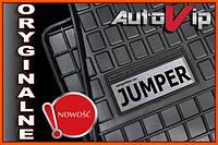 Резиновые коврики CITROEN JUMPER 06-  с логотипом, фото 1
