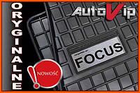 Резиновые коврики FORD FOCUS MK1 98-  с логотипом, фото 1