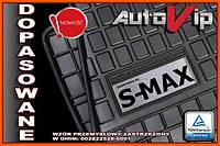 Резиновые коврики FORD S-MAX SMAX 2015-  с логотипом, фото 1