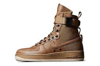 Мужские кроссовки Nike Air Force SF1 Brown| мужские кроссовки найк аир форс коричневые оригинал