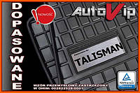 Резиновые коврики RENAULT TALISMAN 2015-  с лого, фото 1