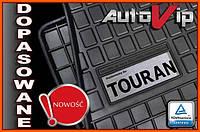 Резиновые коврики VOKSWAGEN TOURAN 2015-  с лого, фото 1