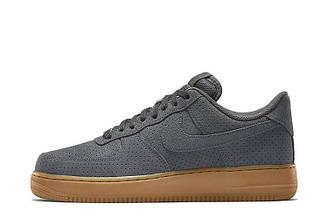 Оригинальные мужские кроссовки Nike Air Force Low Grey Suede | мужские кроссовки найк аир форс серые