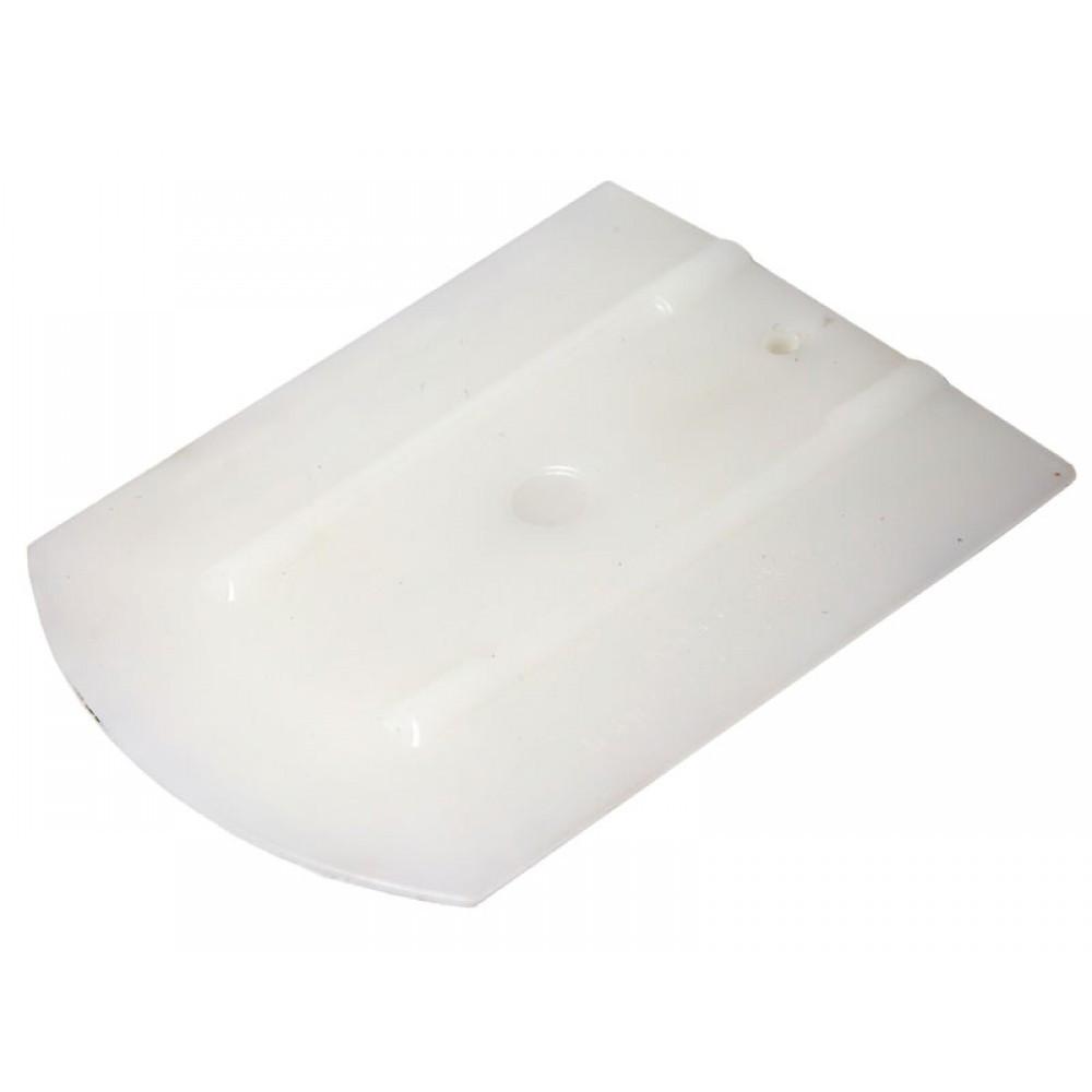 21910588 Эргономичный ракель, белый - 100PP WRAP - Uzlex Ergonomic Squeegee white, 4''+ (110x90mm+30*)