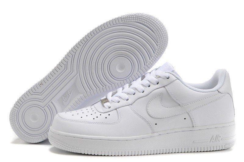 Оригинальные мужские кроссовки Nike Air Force Low All White | мужские кроссовки найк аир белые