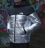 Мужская зимняя куртка, серебристого цвета .ТОП КАЧЕСТВО!!! , фото 1