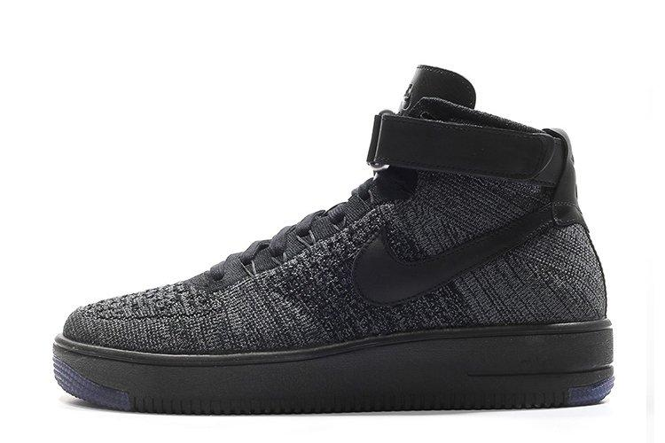 Оригинальные мужские кроссовки Nike Air Force 1 Ultra Flyknit Black | Мужские кроссовки найк аир форс черные 44