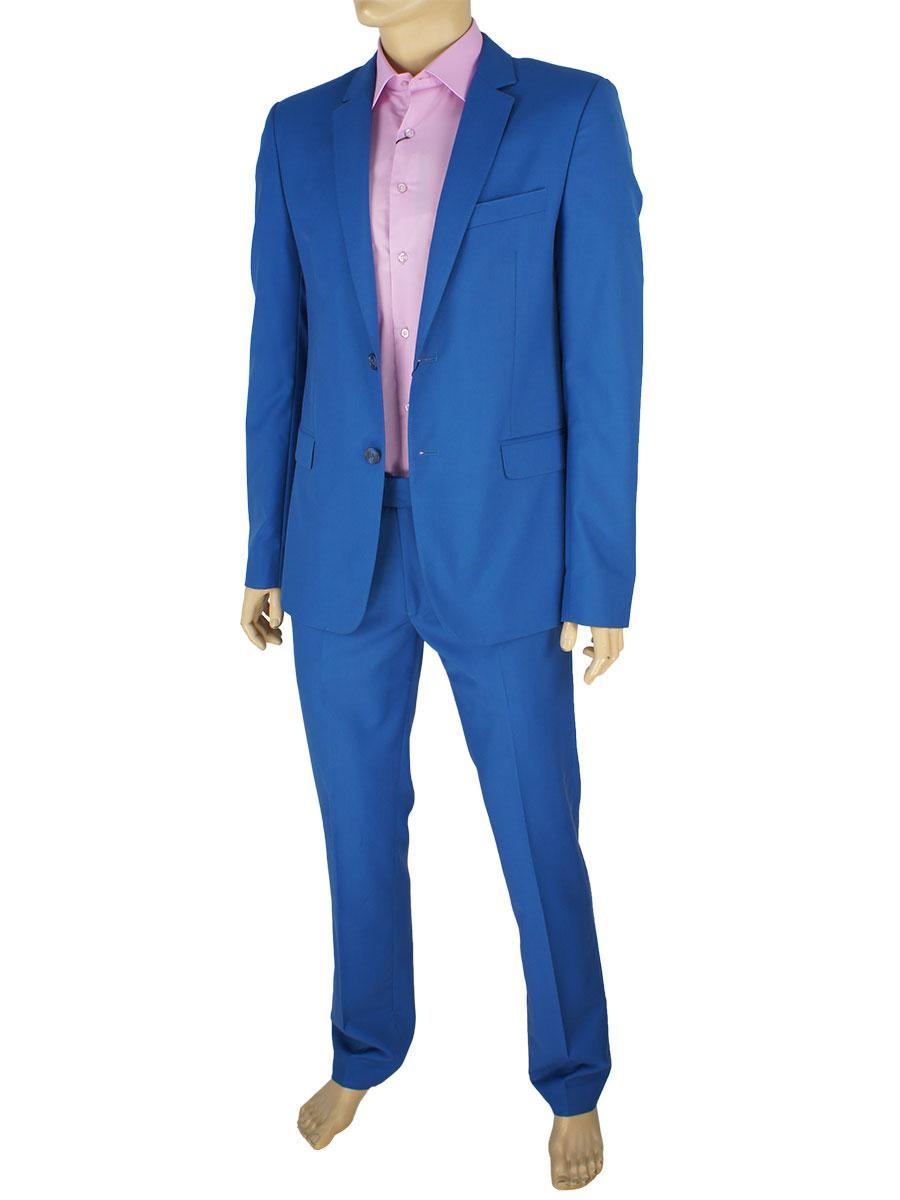 Синій чоловічий класичний костюм Legenda Class 2 532 # 17