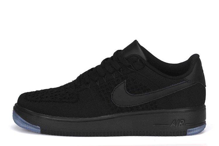 af7aeeb6 Мужские кроссовки Nike Air Force 1 Low Flyknit Black | Мужские кроссовки  найк аир форс лоу