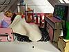 Кукольный Домик Большой Особняк Барби 5 комнат, 3 этажа + обои + шторы + мебель + текстиль + Box, фото 6