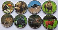 Набор монет Фауна Бенин 8 монет по 10 франков 2018