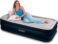Велюровая кровать-матрас INTEX 64132 с эл.насосом
