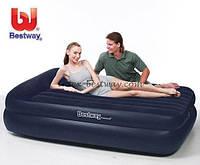 Надувной велюр матрас-кровать BW 67345