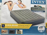 Велюровая кровать-матрас INTEX 64118 с эл.насосом