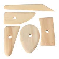 5шт деревянные гончары ребро скелет нож глиняной посуды керамика Ваяющую пластилина Ремесла 1TopShop