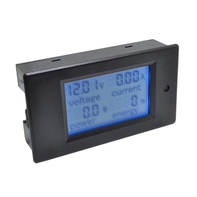 Ваттметр цифровой постоянного тока с ЖКИ 6,5-100V, 0-20A