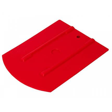 """21910596 Ергономічний ракель, червоний - 50 M1 WRAP - Uzlex Ergonomic Squeegee red, 4""""+ (110x90mm+30*), фото 2"""