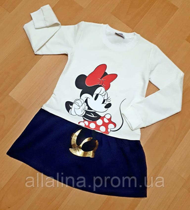 Платье на байке для девочки (1-4 года)