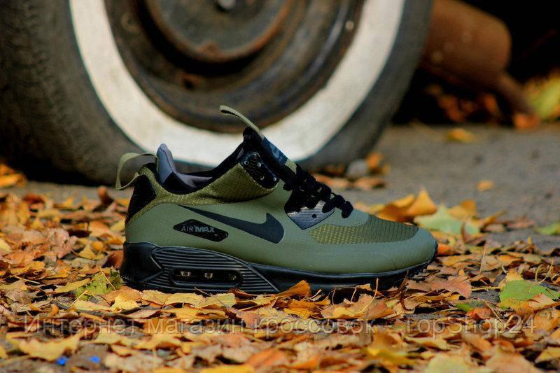 "Зимние кроссовки Nike Air Max 90 Mid ""Khaki"" (Хаки) (реплика А+++ )"