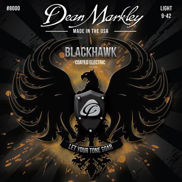 Струни для електрогітари DEAN MARKLEY 8000 BLACKHAWK COATED ELECTRIC LT (09-42)