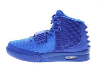 Мужские кроссовки Nike Air Yeezy 2 All Blue   найк аир изисиние