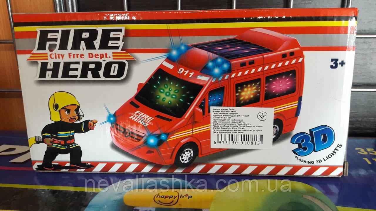 Машина пожарная  FIRE HERO  свет,звук