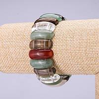 Браслет ассорти камней звено 25х10мм