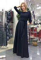 """Вечернее нарядное длинное платье """"в пол"""" с рукавом"""